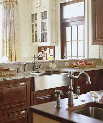 Turn an Island into a PeninsulaDining Room, Aprons Sinks, Kitchens Remodeling, Farmhouse Kitchens Stainless, Kitchens Ideas, Kitchen Sinks, Farmhouse Sinks, Stainless Farmhouse Sink, Kitchens Sinks