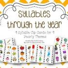 This mini syllable center includes 9 syllable clip cards for 9 different themes throughout the year for a grand total of 81 syllable clip cards. Th...: Clip Cards