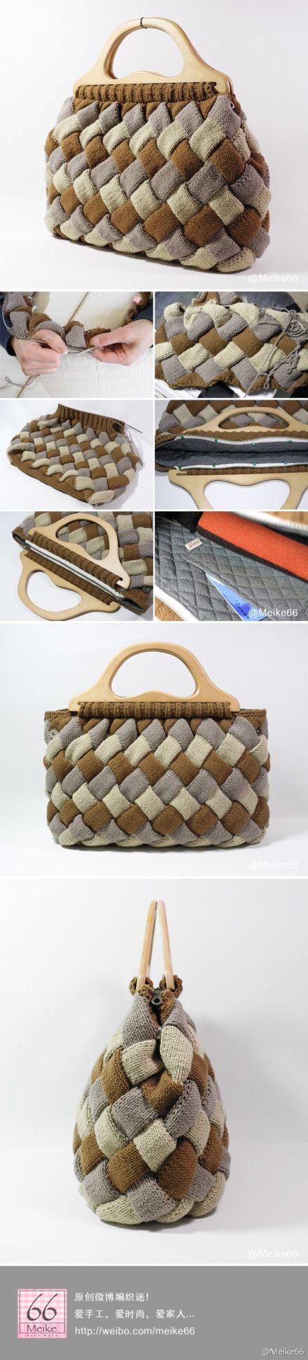 Entrelac bag