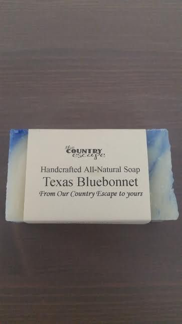 Handcrafted Texas bluebonnet scented soap.