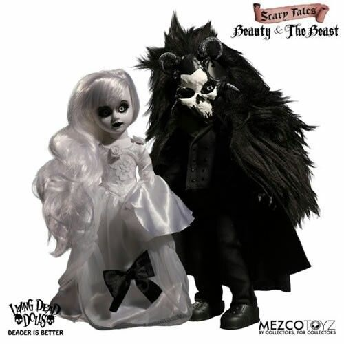 Living Dead Dolls LDD Scary Tales Beauty & The Beast Set of 2 IN STOCK  #MezcoToyz