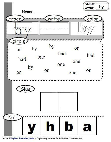 73 sight word practice worksheets @Stacy York (for Michael)