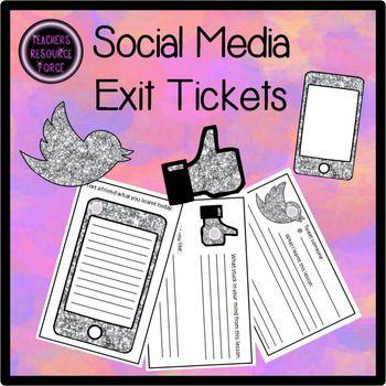 Social Media Exit Tickets - Twitter, Facebook, Texting!