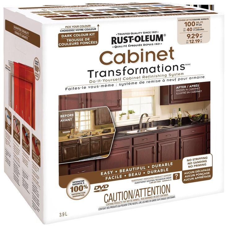 Kitchen Cabinet Refinishing Kits: Rust-Oleum Exterior Gloss Dark Cabinet Transformation Kit