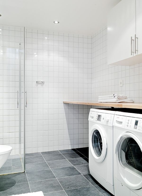 20 Small Laundry with Bathroom Combinations | House Design And Decor