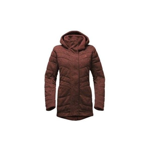 The North Face Women's Indi Insulated Parka Coat ($179) ❤ liked on Polyvore featuring outerwear, coats, hooded parka, parka coat, brown parka coat, high collar coat and hooded coat