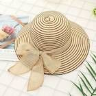 Women Handmade Weave Bow Beach Sun Hats Ribbon Lace Up Large Brim Straw Hat CA #… – Women's Accessories
