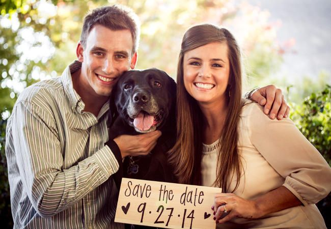 22 Engagement Photos With Dogs That Will Melt Your Heart   Photo by: Bulletproof Photography   TheKnot.com