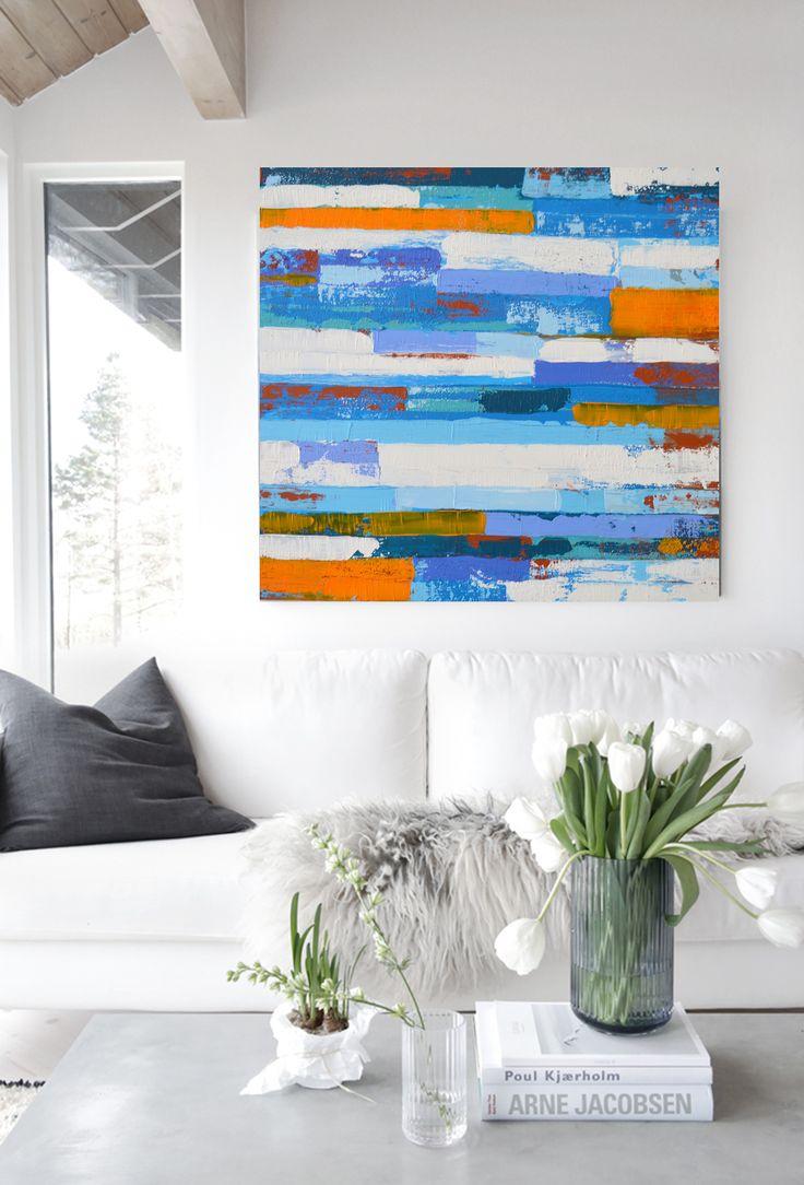 """ABSTRAKTNÍ MALBA Technika: Akryl na plátně Velikost: šířka: šířka: 31,5 """"(80 cm) x výška: 31,5"""" (80 cm), Všechny mé obrazy jsou na kvalitních plánech, vypnutých na dřevěných rámech, hned k zavěšení Každý obraz z našeho ateliéru, je originálem 3D efekty acryl pasta, kombinace, modré, oranžové, hnědé, černé a bílé, závěrečný speciální acryl lak,..."""
