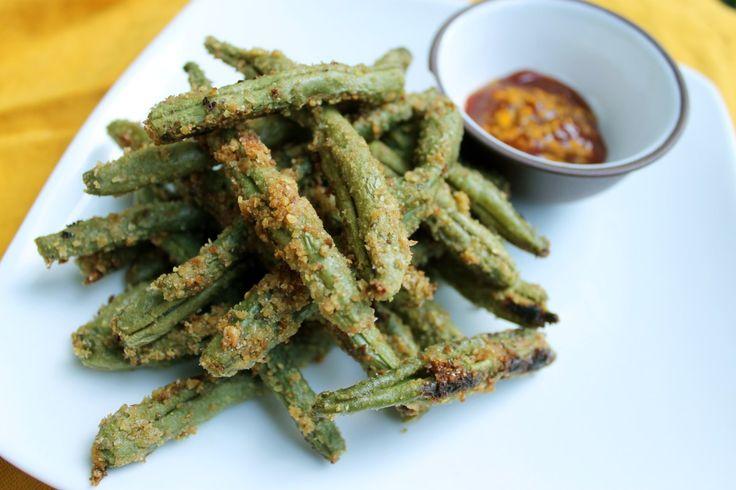 how to make crispy baked green beans