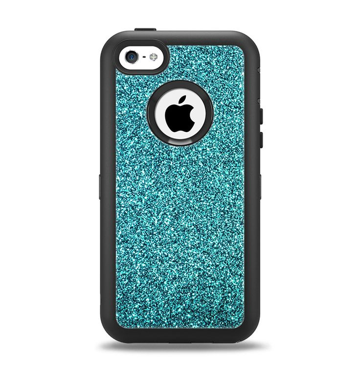 Iphone 5c Otterbox Clear The Teal Glitter Ultra...