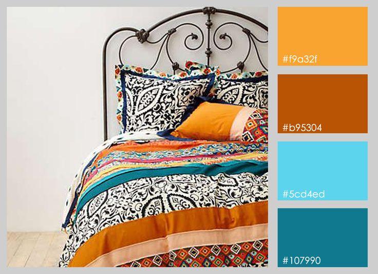 paleta de colores calidos