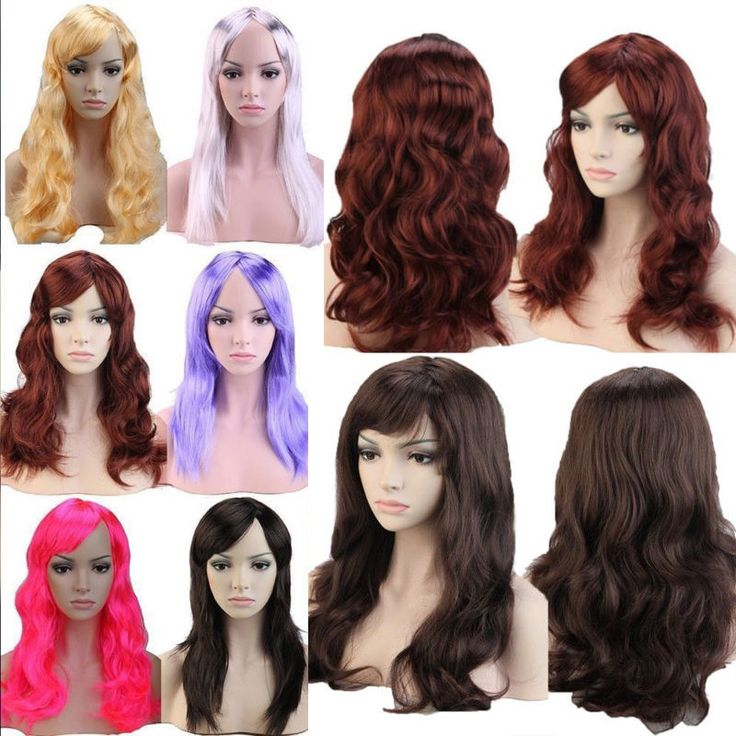 20%off Fancy Dress Wig Straight Curly Wave Full Wigs Synthetic Hair Full Head Zq #Unbranded #FullWig