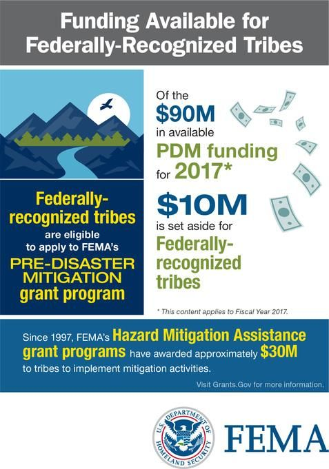 Pre-Disaster Mitgation Funding Available for Federally-Recognized Tribes