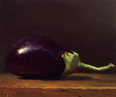 aubergine, a frequently used vegatable in the levant region