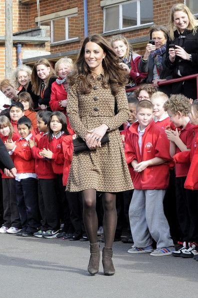 Kate Middleton Visits Rose Hill School