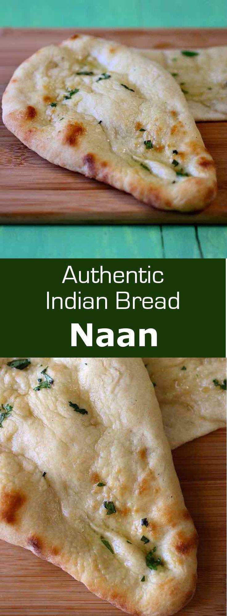 Le naan est un pain plat, traditionnellement cuit au four tandouri populaire dans les cuisines d'Asie, et particulièrement en Inde et au Pakistan. via @196flavors