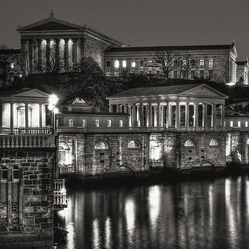 Haute in Philadelphia / karen cox. Philadelphia Art Museum and Water Works by Michael Penn Street Photography