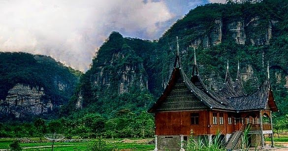 Bukit Barisan Mountain Range in West Sumatra ---Much of its highland is formed by the Bukit Barisan Mountain range; virgin jungles inhabited by elephants