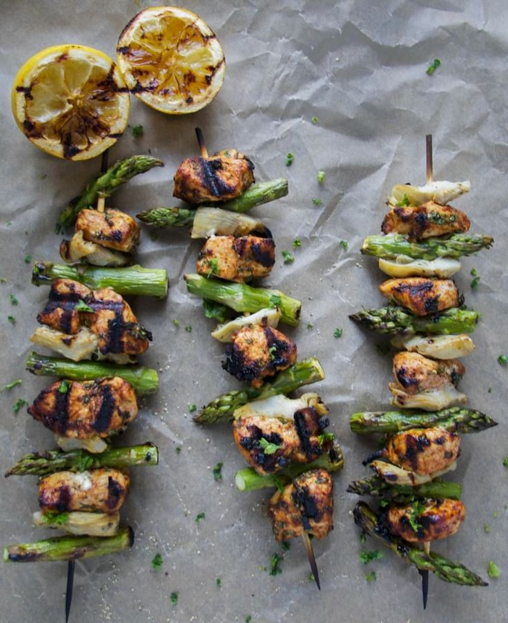 Surprise Your Fit Friends With These Healthy Skewers-Moroccan Lemon Herb Chicken Skewers