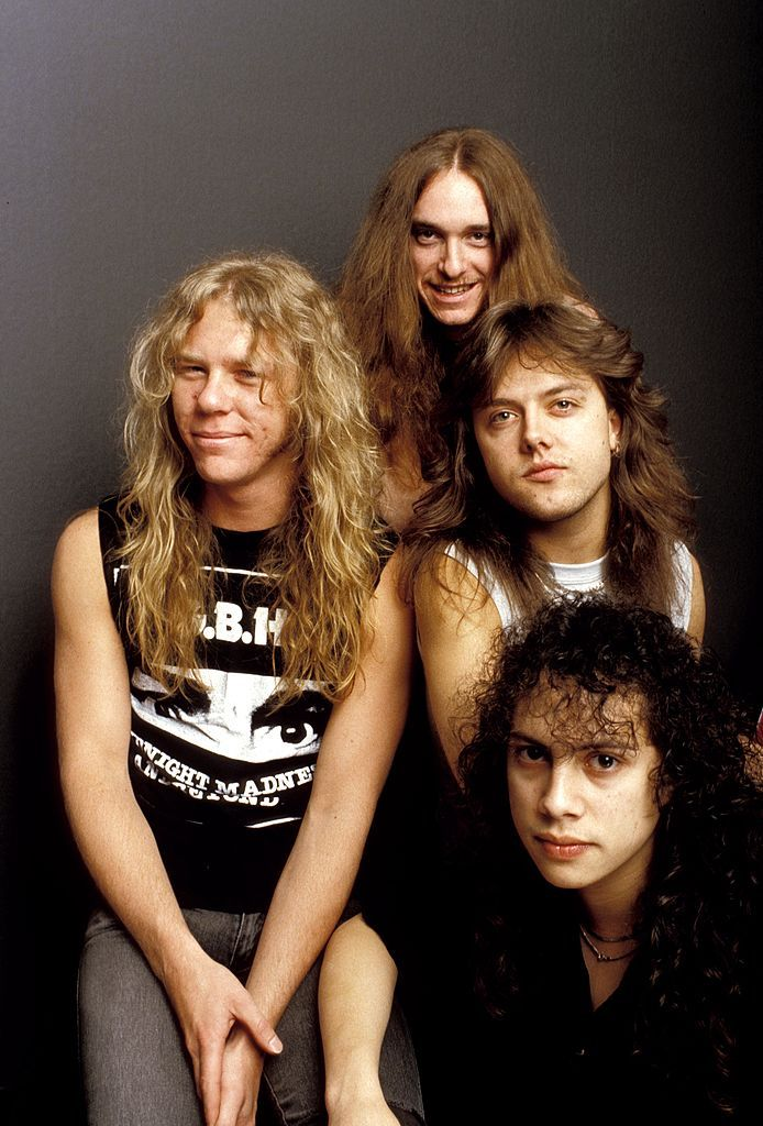 United States January 01 Photo Of Metallica And Lars Ulrich And Kirk Hammett And James Hetfield And Cliff Burton James Metallica Cliff Burton Kirk Hammett