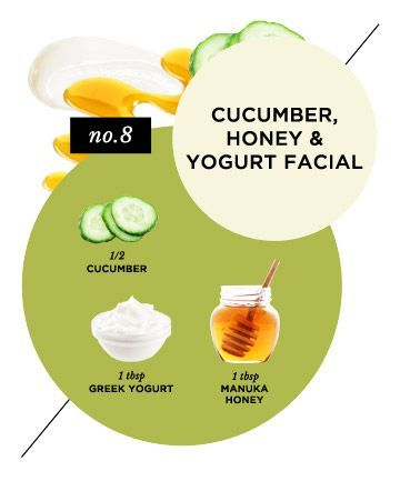 Get-Glowing Cucumber, Honey and Yogurt Facial Try it: To soothe and tone before a big event