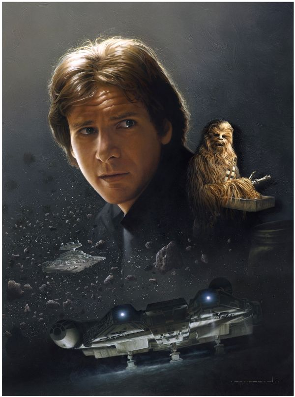 One of my absolute favorite movies.: Art Sets, Hansolo, Jerry Vanderstelt, Harrison Ford, Stars War Art, Millennium Falcons, Disney Art, Hans Solo, Starwars
