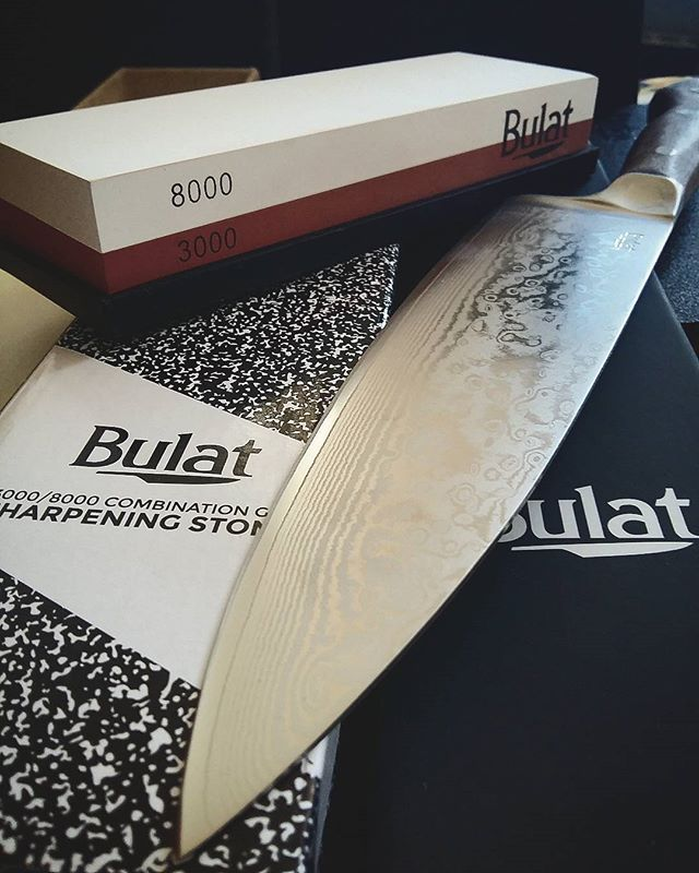 I supported a friend of a friend's kickstarter (thanks @gleegz), which became a massive success, and now I own this truly gorgeous chef's knife and combination grit sharpening stone. I'm so excited to cook with this baby! #earlybird #knife #chefsknife #bulat #steel #walnut #sharp #kickstarter #gorgeous #kitchentools #cooking Yummery - best recipes. Follow Us! #kitchentools #kitchen