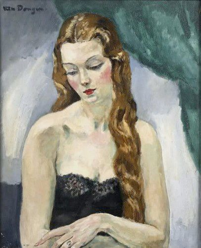 Woman with long hair, by Kees van Dongen