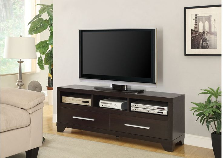"""Cappuccino TV Stand Sale Price : $209.99 SKU: COA-703301 15.25""""D x 21.75""""H x 60.00""""W"""