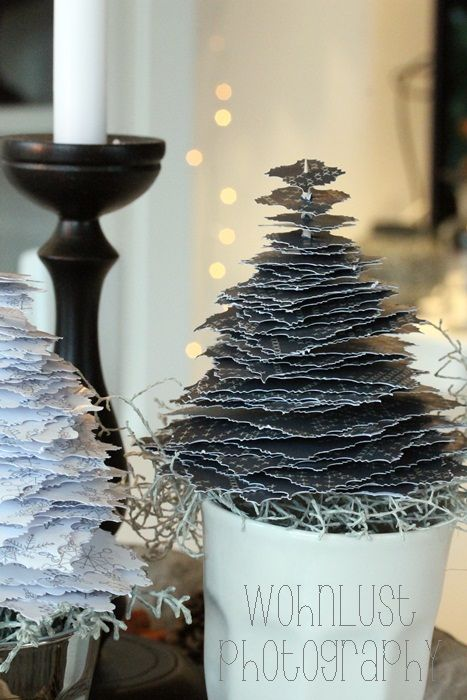ber ideen zu papierb ume auf pinterest weihnachtsb ume klare briefmarken und papier. Black Bedroom Furniture Sets. Home Design Ideas