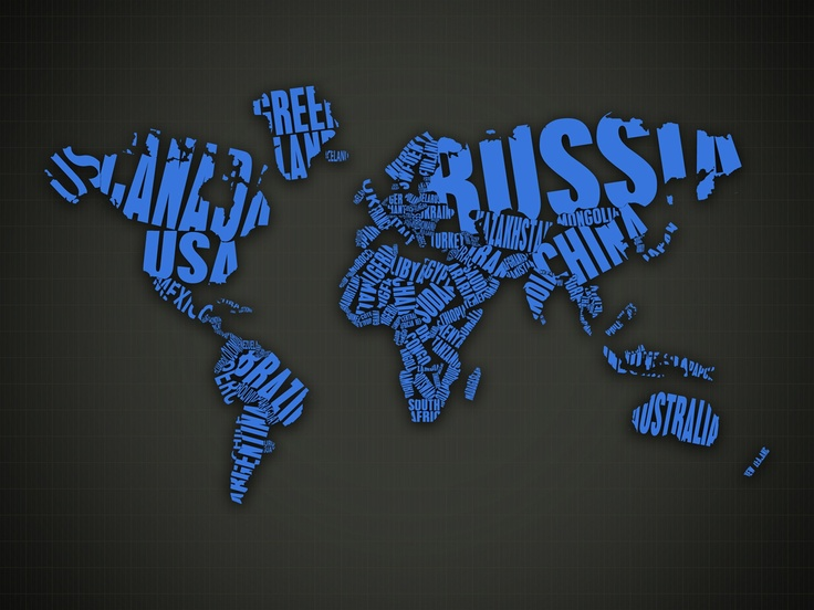 17 best typography wallpaper images on pinterest typography blue world map made by country names gumiabroncs Images