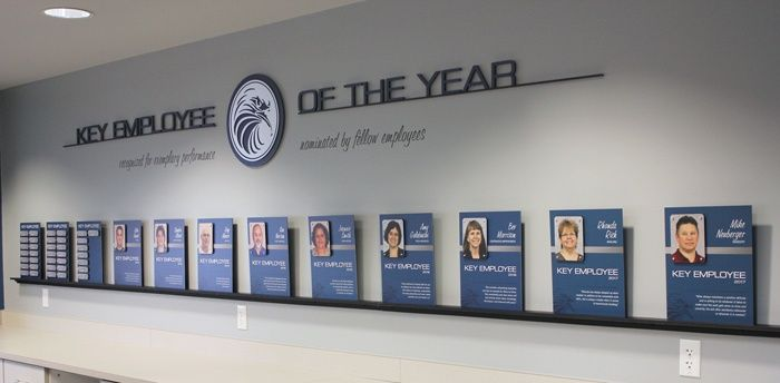 4 Unique Employee Recognition Ideas With Lasting Impact Office Wall Design Employee Recognition Corporate Office Decor