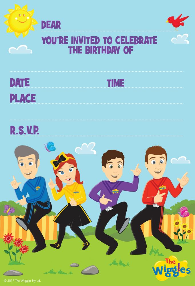 Let your little one's family and friends know about their upcoming Wiggles themed birthday party with The Wiggles Invitations! Click here to buy The Wiggles Invitations 8 Pack