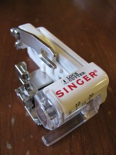 Singer Lock Cutter Sewing Machine Attachment - If this really acts like a serger without *buying* a serger, I want it!