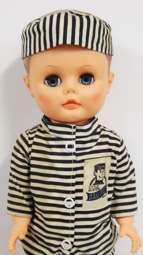 Earle Pullan Mister Bad Boy Doll B&W Prison Outfit Doll PLaypal