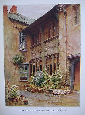 THE LUTTRELL ARMS YARD - DUNSTER - SOMERSET - WALTER TYNDALE - 1927