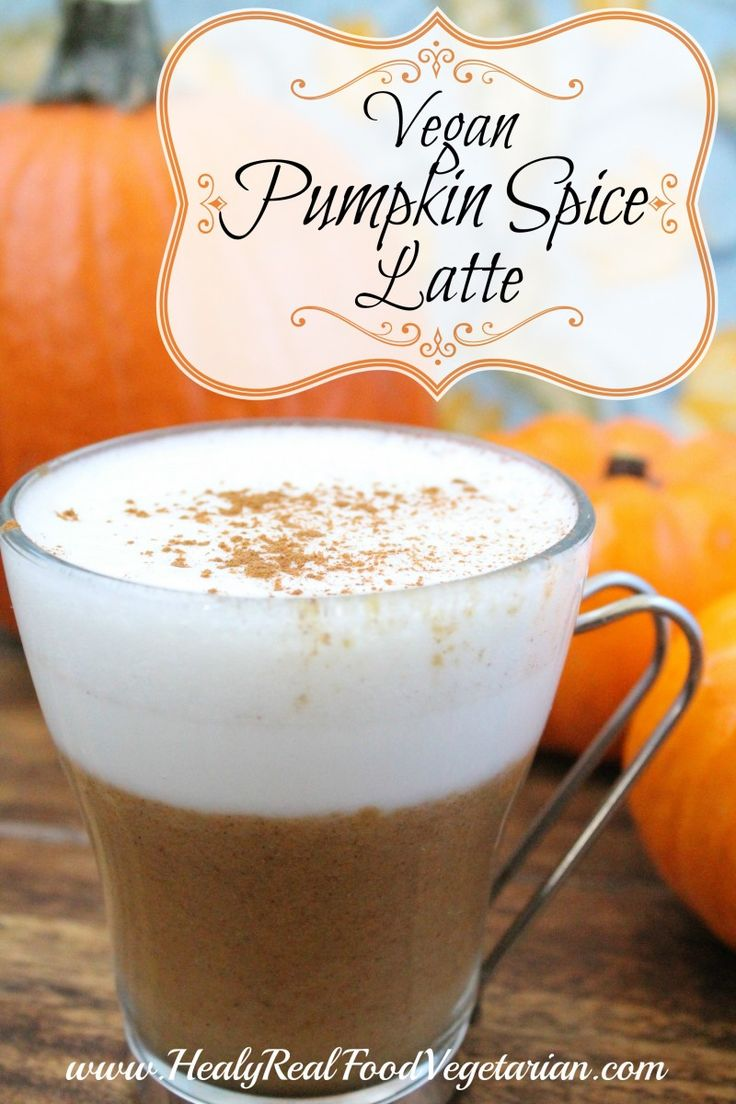 I've created this healthy pumpkin spice latte, you can make it vegan or use grassfed milk.