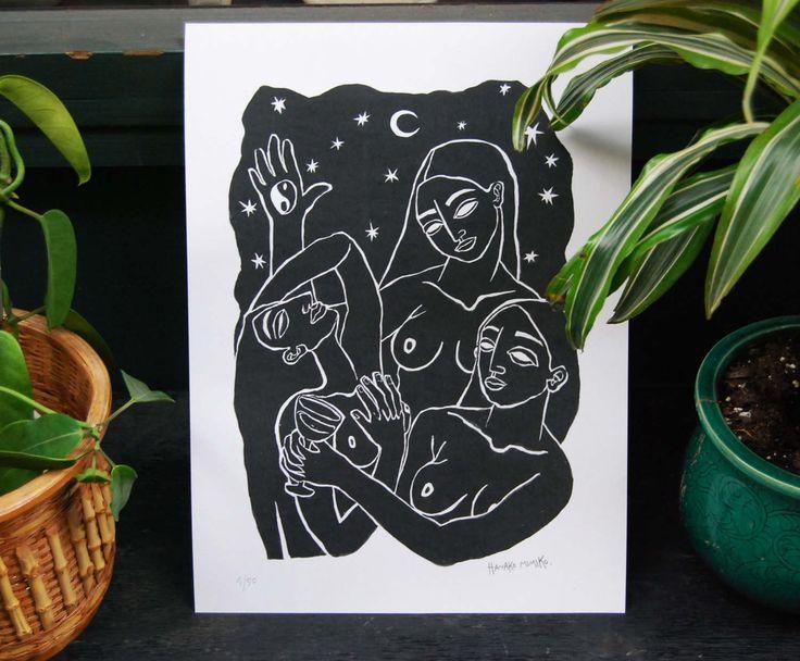 Reunión de Mujeres, Digital Print, Limited Edition de hanakomimiko en Etsy