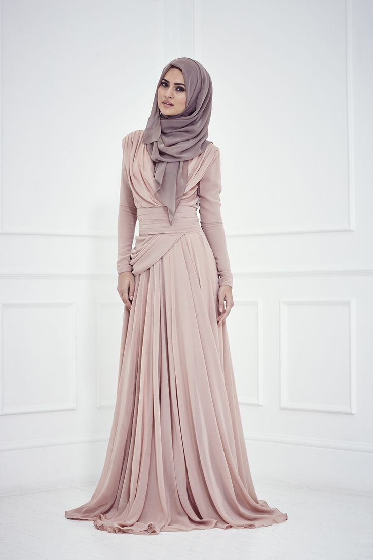 Zahra Evening Dress by Inayah #dusty #pink #wedding #apparel #modesty #dress #flowy
