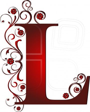 capital letter L red, abstract, alphabet, alphabetic