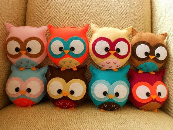 """Plush Owl Toy...going to make a couple of these for my library...reading is """"owl-ways"""" a great idea!"""