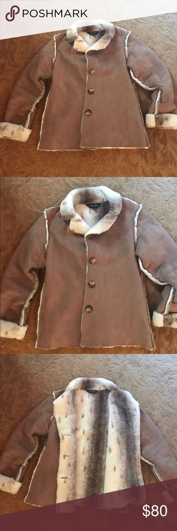 True Grit Brown Suede Jacket w Soft Fur Lining True Grit Brown Suede Jacket w Soft Fur Lining. Never been worn, excellent condition! Very soft and comfortable for the winter. Care Instructions: Machine wash cold; Delicate wash cycle; With like colors; Do not bleach; Tumble dry low; Do not iron fur. True Grit Jackets & Coats