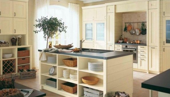 open lower kitchen cabinets | neat looking kitchen with ...