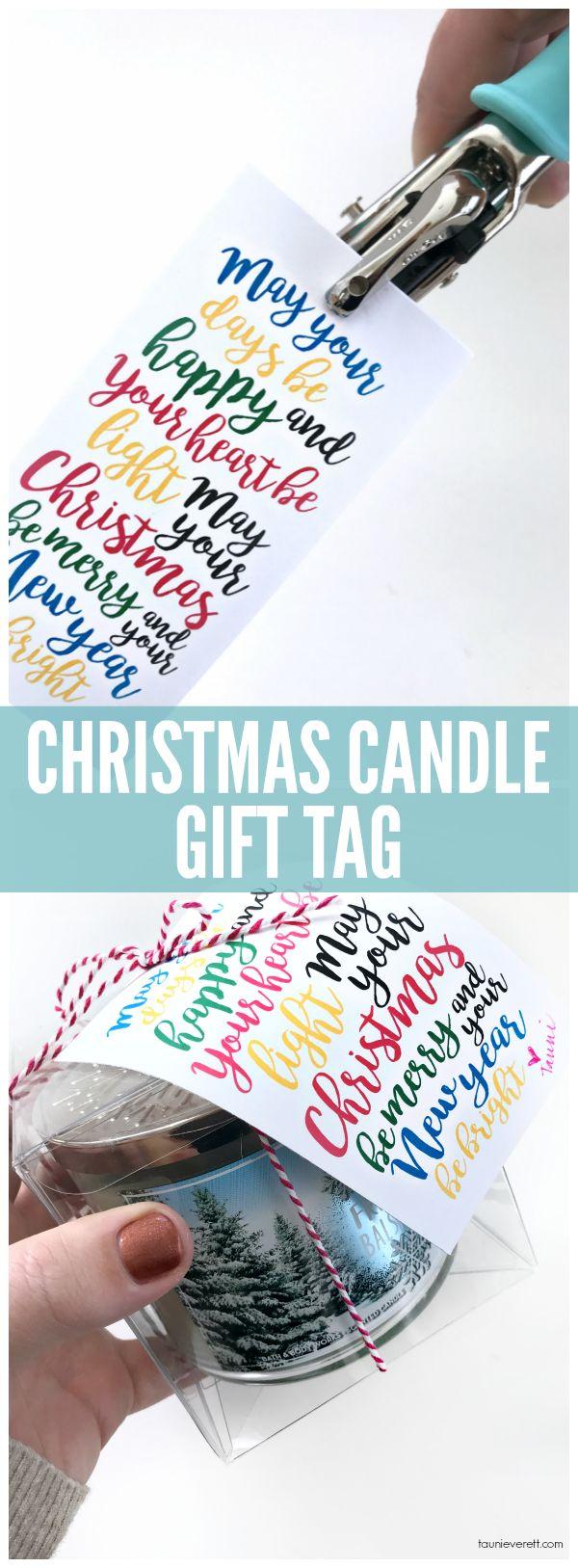 Print + Cut Christmas Candle Gift Tag