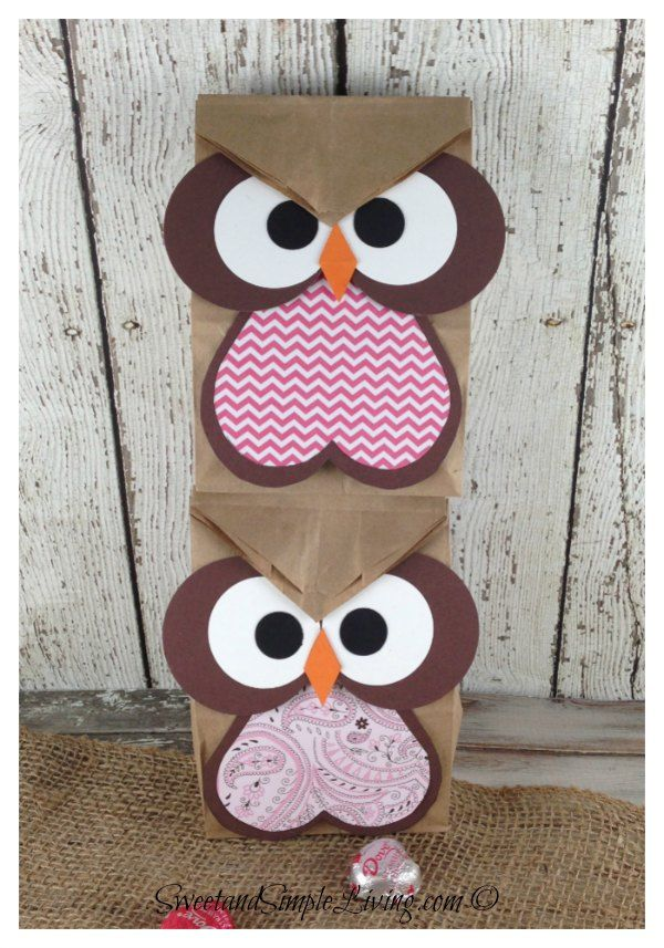 Owl Crafts: Easy Treat Bag