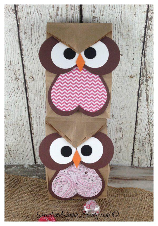 Valentine Owl Paper Sack