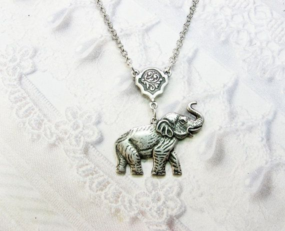Hey, I found this really awesome Etsy listing at http://www.etsy.com/listing/122247930/silver-necklace-silver-elephant-necklace