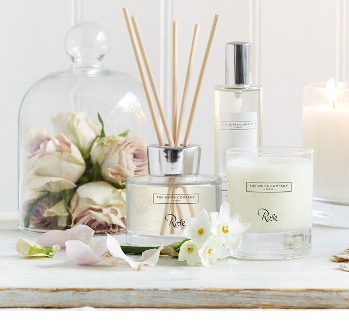Rose diffuser by White Company  www.glammm.nl