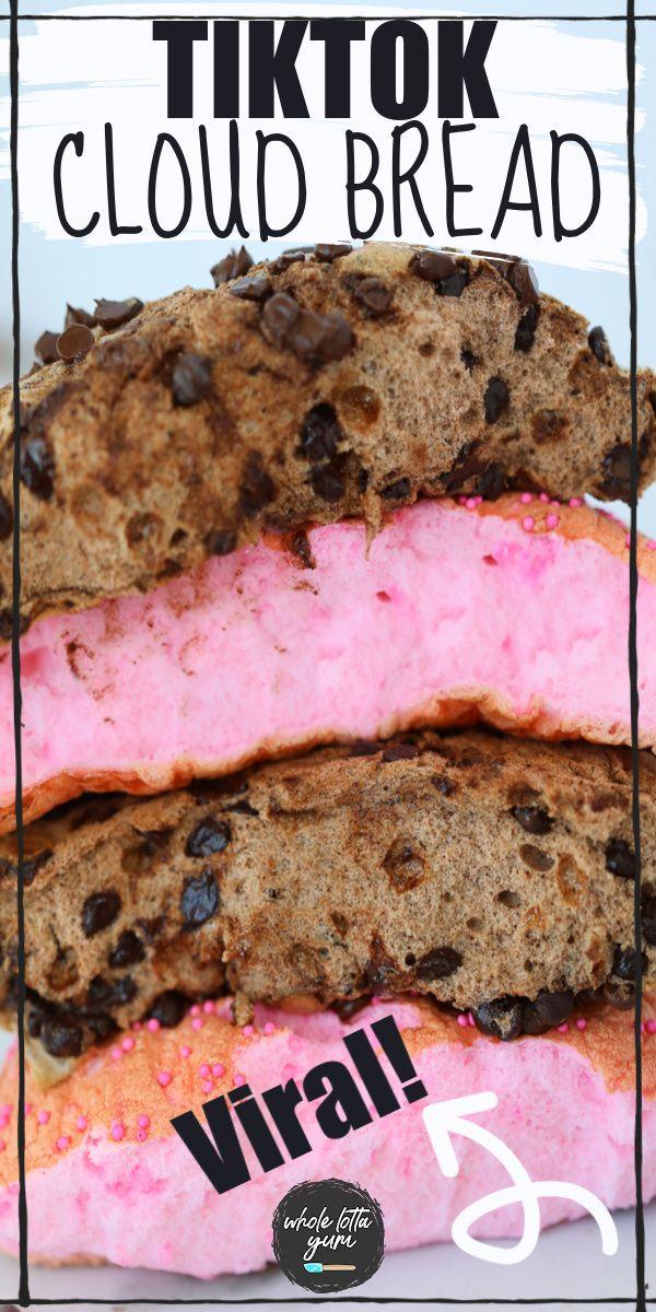 Tiktok Cloud Bread In 2020 Low Carb Snacks Sweet Cloud Bread Semi Healthy Snacks